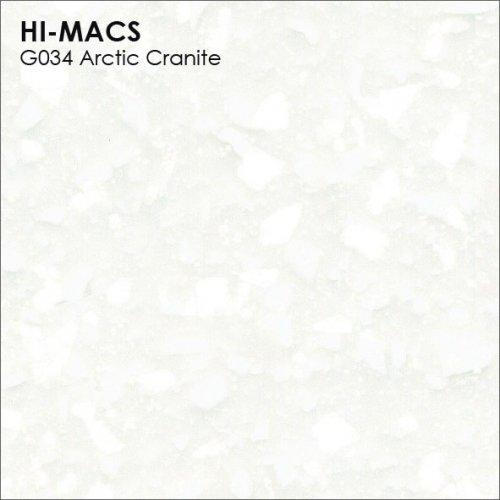 Столешница Г-образная Акрил LG HI-MACS lg-hi-macs-granite-g034-arctic-granite