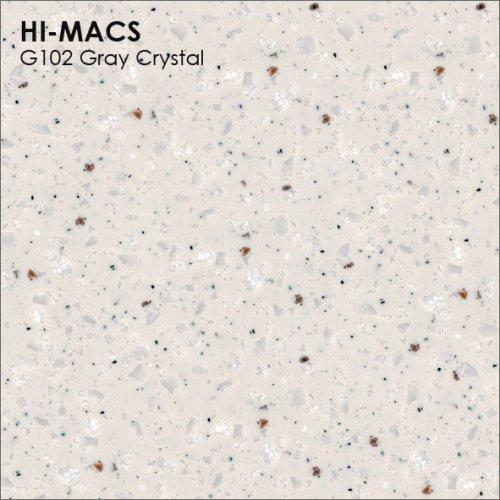 Столешница Г-образная Акрил LG HI-MACS lg-hi-macs-granite-g102-gray-crystal