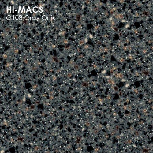 Столешница Г-образная Акрил LG HI-MACS lg-hi-macs-granite-g103-gray-onix