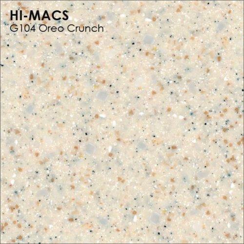 Столешница Г-образная Акрил LG HI-MACS lg-hi-macs-granite-g104-oreo-crunch