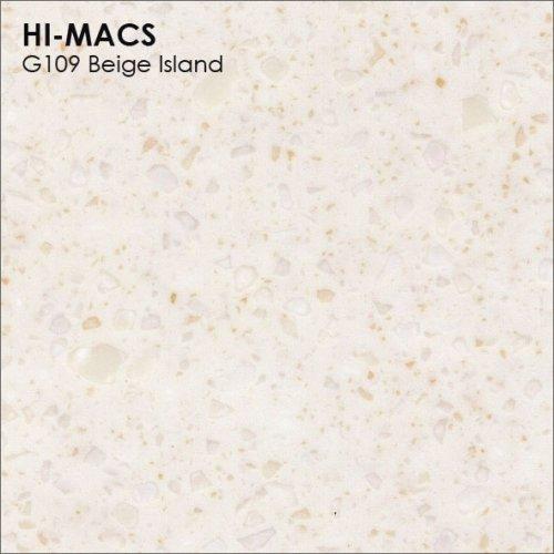 Столешница Г-образная Акрил LG HI-MACS lg-hi-macs-granite-g109-beige-island