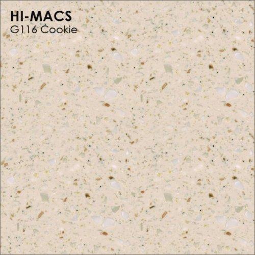 Столешница Г-образная Акрил LG HI-MACS lg-hi-macs-granite-g116-cookie