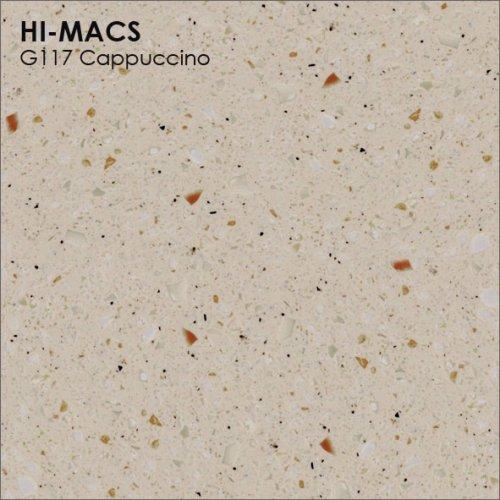Столешница Г-образная Акрил LG HI-MACS lg-hi-macs-granite-g117-cappuccino