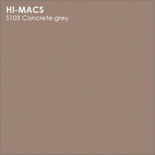 Столешница Г-образная Акрил LG HI-MACS lg-hi-macs-new-s103-concrete-grey