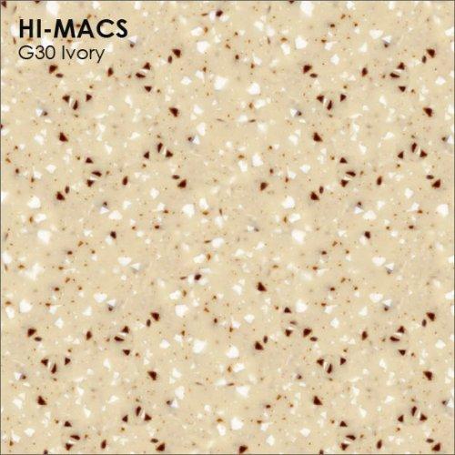 Столешница Г-образная Акрил LG HI-MACS lg-hi-macs-quartz-g030-ivory