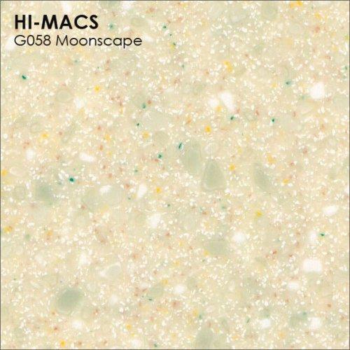 Столешница Г-образная Акрил LG HI-MACS lg-hi-macs-quartz-g058-moonscape