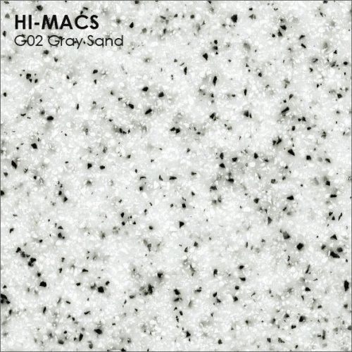 Столешница Г-образная Акрил LG HI-MACS lg-hi-macs-sand-g002-gray