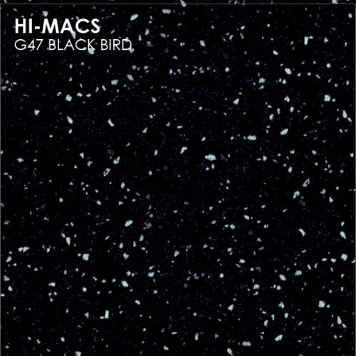 Столешница Г-образная Акрил LG HI-MACS lg-hi-macs-sand-g047-black-bird