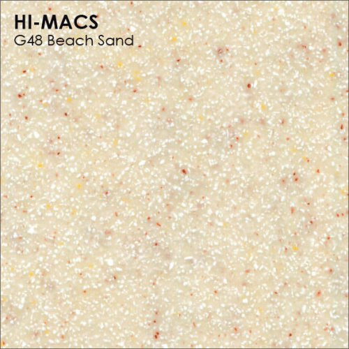 Столешница Г-образная Акрил LG HI-MACS lg-hi-macs-sand-g048-beach