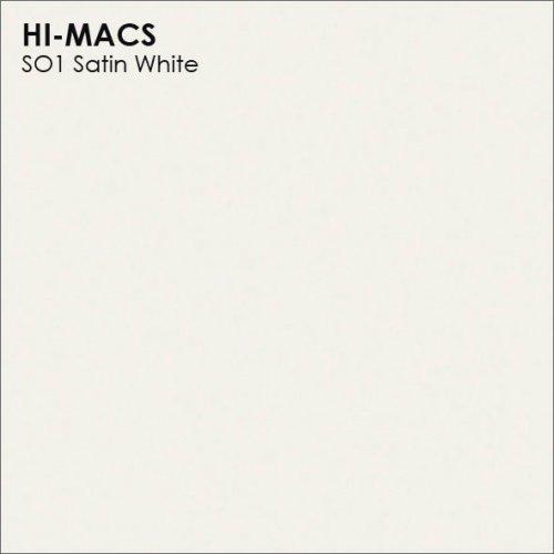 Столешница Г-образная Акрил LG HI-MACS lg-hi-macs-solid-s001-satin-white