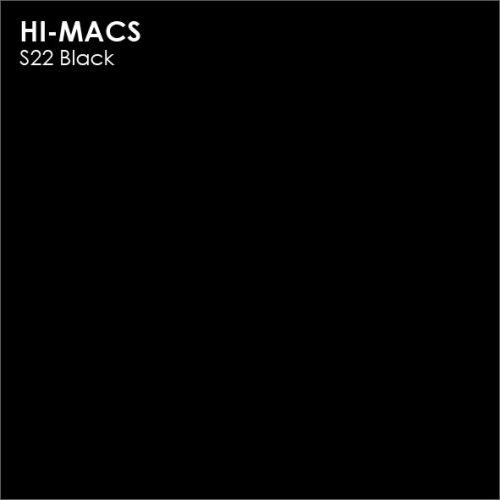 Столешница Г-образная Акрил LG HI-MACS lg-hi-macs-solid-s022-black