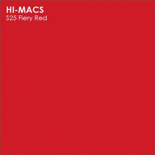 Столешница Г-образная Акрил LG HI-MACS lg-hi-macs-solid-s025-fiery-red