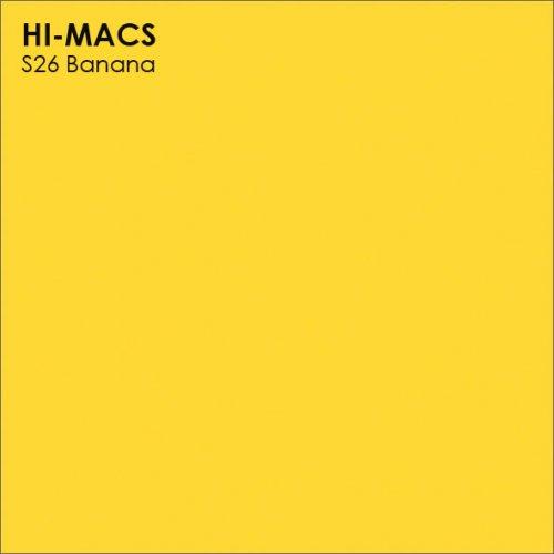 Столешница Г-образная Акрил LG HI-MACS lg-hi-macs-solid-s026-banana