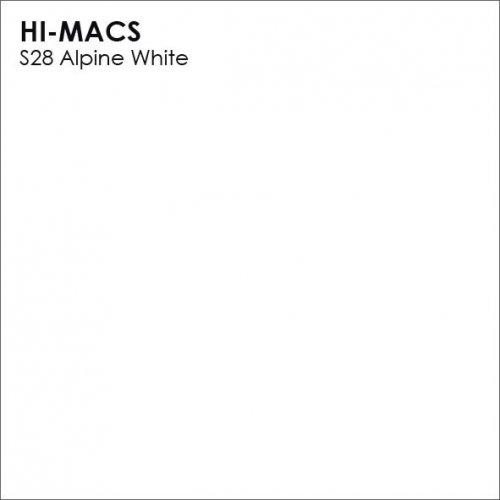 Столешница Г-образная Акрил LG HI-MACS lg-hi-macs-solid-s028-alpine-white