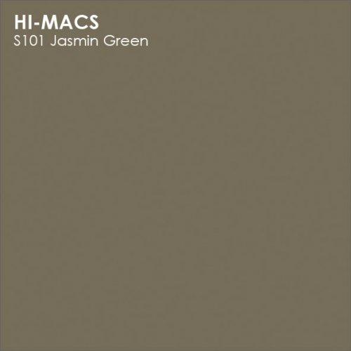 Столешница Г-образная Акрил LG HI-MACS lg-hi-macs-solid-s101-jasmin-green