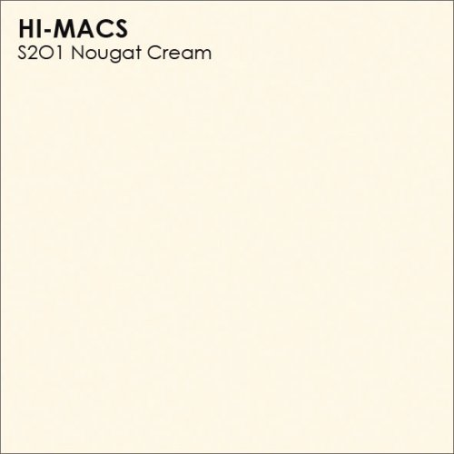 Столешница Г-образная Акрил LG HI-MACS lg-hi-macs-solid-s201-nougat-cream